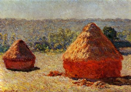 Monet, Claude: Haystacks, End of the Summer, Morning. Fine Art Print.  (00128)